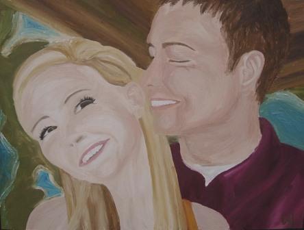 Dan & Leslie Oil Painting by Loriann Hofmeister